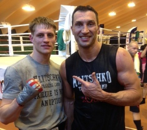 Photos: Simon Barclay Spars With Wladimir Klitschko