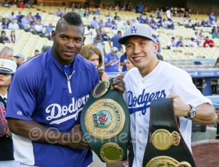"Gennady Golovkin - This past Saturday night, boxing's fastest rising star, GENNADY ""GGG"" GOLOVKIN was honored by the first place Los Angeles Dodgers taking the hill for the game's honorary first pitch."