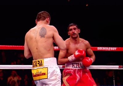 Amir Khan, Carlos Molina, Khan vs Molina - By Michael Collins: Former IBF/WBA light welterweight champion Amir Khan (26-3, 18 KO's) now has a venue, a U.S cable network carrier and a date for his next fight against lightweight Carlos Molina (17-0, 17 KO's). Khan, 25, will be fighting Molina on December 15th on Showtime on in the U.S. a the Sports Arena, in Los Angeles, California. It's a date the conflicts with a Top Rank card headlined by WBO welterweight champion Tim Bradley possibly against light welterweight Lamont Peterson on HBO. As such, the audience for both fights will be much less than could be, not either of the main events are all that interesting.