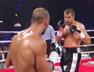 """Sergey """"Krusher"""" Kovalev - WBO light heavyweight champion Sergey Kovalev (25-0-1, 23 KOs) says he's going to bring a lot of pain next Saturday night in his long awaited unification fight against IBF/WBA champ Bernard Hopkins (55-6-2, 32 KOs) at the Boardwalk Hall in Atlantic City, New Jersey. Kovalev thinks Hopkins sees him as a fighter who will run out of gas early after he expends his energy trying to score a quick knockout, but Kovalev says he's going to be able to keep throwing with power for the entire fight for as long as it lasts."""