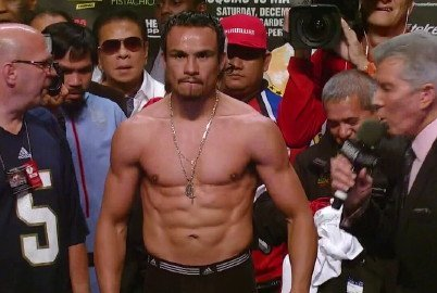 By Bill Phanco: Former four division world champion Juan Manuel Marquez (54-6-1, 39 KO's) will be looking to knock Manny Pacquiao (54-4-2, 38 KO's) clean out on Saturday in their fourth fight between them. Marquez, 39, wants to take the judges completely out of their position of being able to sit as the decider in this fight by knocking Pacquiao and making sure that he won't be on the receiving end of another controversial decision like in the past three fights.