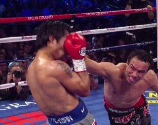 Juan Manuel Marquez, Manny Pacquiao - The 4th fight turned out to be a climatic episode of the famed rivalry and a defining moment for Juan Manuel Marquez. This was the third KO loss for Manny Pacquiao in his stellar career and normally it would mean the end of the road for a 34 years old welterweight . He has rebounded from the fiasco, rebuilt his bona fides and the dramatic turn of events has set up the stage for a 5th episode.