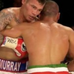 """Boxing Results -  England's Martin Murray continued his march towards a world title shot with a dramatic seventh-round technical decision win over rugged Domenico Spada of Italy in the main bout on the Golden Gloves """"Title Tornado"""" card in Monaco on Saturday night."""