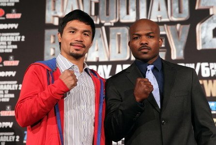 Manny Pacquiao, Pacquiao vs. Bradley II, Tim Bradley - (Photo credit: Chris Farina - Top Rank)