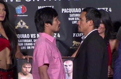 Manny Pacquiao - By Rob Smith: While the hardcore boxing fans might be incredibly sick of seeing Manny Pacquiao and Juan Manuel Marquez fight endlessly, the casual boxing fans are clearly not bored as they've purchased nearly all of the 16,800 tickets for the Pacquiao-Marquez scheduled for December 8th at the MGM Grand in Las Vegas, Nevada. As of Monday morning there were only 3000 tickets left with 13,00 having been sold over the weekend. By now the 3000 remaining tickets are probably reduced to even lower numbers.