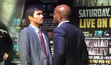 Manny Pacquiao, Pacquiao vs. Bradley 2, Tim Bradley - Top Rank promoter Bob Arum has some concerns about whether his aging money fighter 35-year-old Manny Pacquiao (55-5-2, 38 KO's) can get by his next opponent WBO welterweight champion Tim Bradley (31-0, 12 KO's) on April 12th next month. Pacquiao didn't look so great the last time he fought Bradley two years ago, and there's no way of knowing if Pacquiao will be any better in the remain.