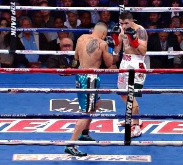 Brandon Rios - By Rob Smith: In a really disappointing match, IBF/WBO super bantamweight champion Nonito Donaire (30-1, 19 KO's) easily defeated 36-year-old WAY best his best Toshiaki Nishioka (39-5-3, 24 KO's) by a 9th round TKO on Saturday night at the Home Depot Center, in Carson, California, USA. Donaire knocked the reluctant Nishioka down twice in the fight, once in the 6th and finished him off with a right to the head in the 9th. Nishioka's corner threw in the towel after the knockdown.