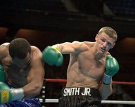 """Joe Smith Jr. - (September 19th) During an brief intermission at Star Boxing's """"Rockin Fights 15"""" at Long Island's hottest boxing venue Star Boxing President and CEO Joe Deguardia announced the signing of Shirley, Long Island's promising light heavyweight Joe """"The Irish Bomber"""" Smith Jr."""