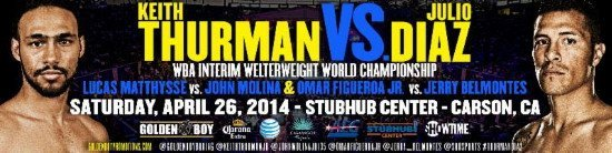 Keith Thurman, Lucas Matthysse and Omar Figueroa to headline Showtime tripleheader at Stubhub center on  April 26
