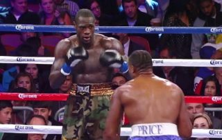 Bermane Stiverne, Deontay Wilder - Deontay Wilder (32-0, 32 KOs) has been using sparring partner Demetrice King (15-20, 13 KOs) as a source of information to get him ready for his fight in two weeks from now against World Boxing Council heavyweight champion Bermane Stiverne (24-1-1, 21 KOs) at the MGM Grand in Las Vegas, Nevada. King, 29, stopped Stiverne in the 4th round of their fight in 2007.